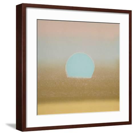 Sunset, 1972 (gold, blue)-Andy Warhol-Framed Art Print