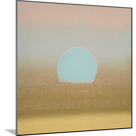 Sunset, 1972 (gold, blue)-Andy Warhol-Mounted Art Print