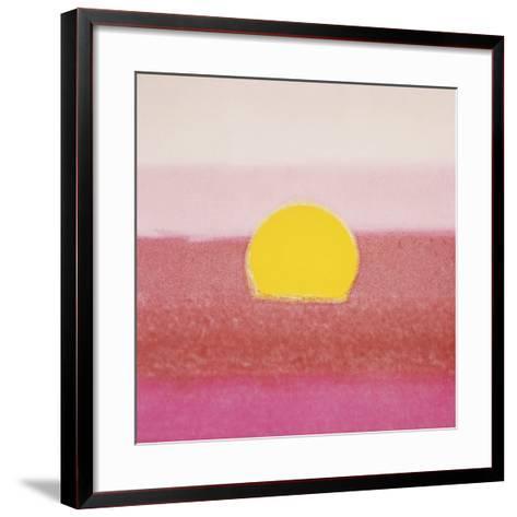 Sunset, 1972 (pink)-Andy Warhol-Framed Art Print