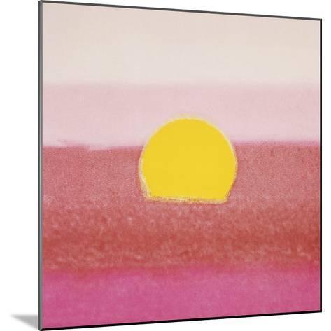 Sunset, 1972 (pink)-Andy Warhol-Mounted Art Print