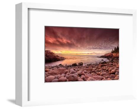 Sunrise, Monument Cove-Michael Hudson-Framed Art Print