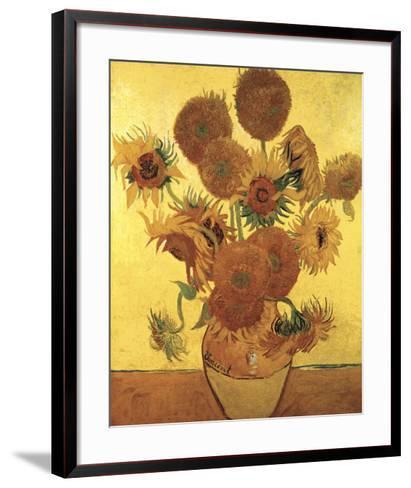 Sunflowers on Gold, 1888-Vincent van Gogh-Framed Art Print