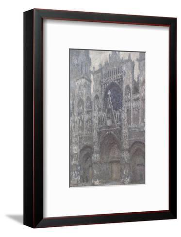 The Cathedral in Rouen, The Portal, Grey Weather, 1892-Claude Monet-Framed Art Print