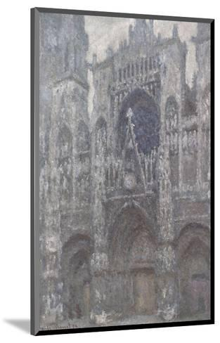 The Cathedral in Rouen, The Portal, Grey Weather, 1892-Claude Monet-Mounted Art Print