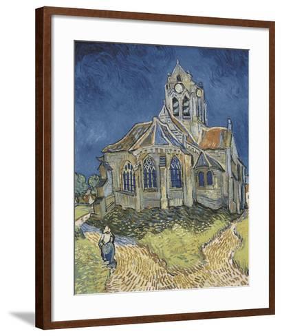 The Church at Auvers-Vincent van Gogh-Framed Art Print
