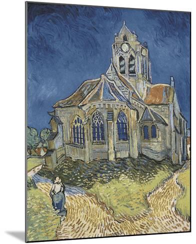 The Church at Auvers-Vincent van Gogh-Mounted Art Print