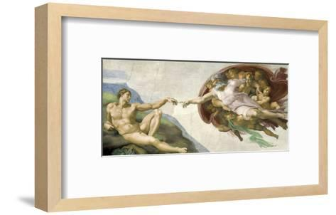 The Creation of Adam-Michelangelo-Framed Art Print