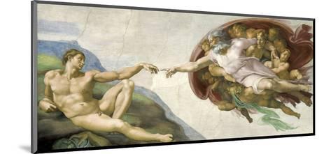 The Creation of Adam-Michelangelo-Mounted Art Print