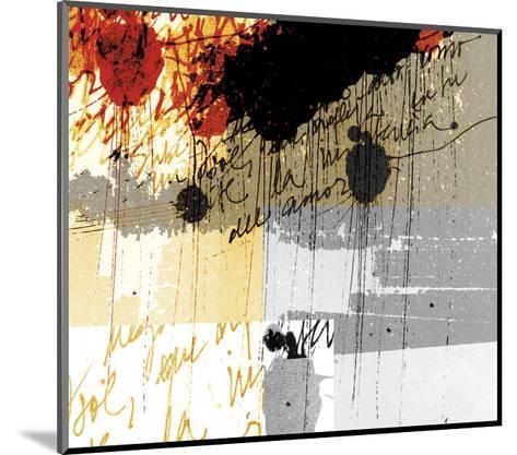 Text Rain-Carolina Pecora-Mounted Art Print