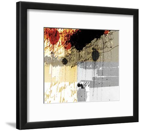 Text Rain-Carolina Pecora-Framed Art Print
