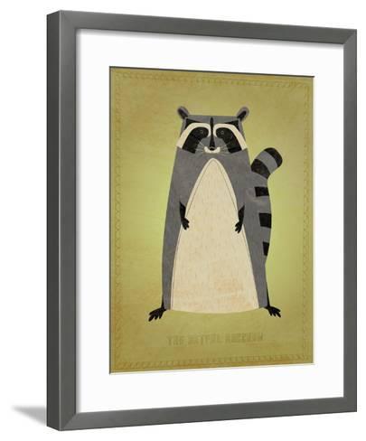 The Artful Raccoon-John W^ Golden-Framed Art Print