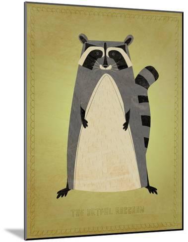 The Artful Raccoon-John W^ Golden-Mounted Art Print