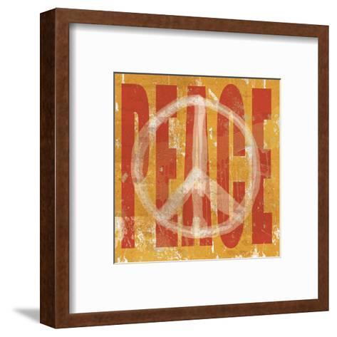 Think Peace-Erin Clark-Framed Art Print