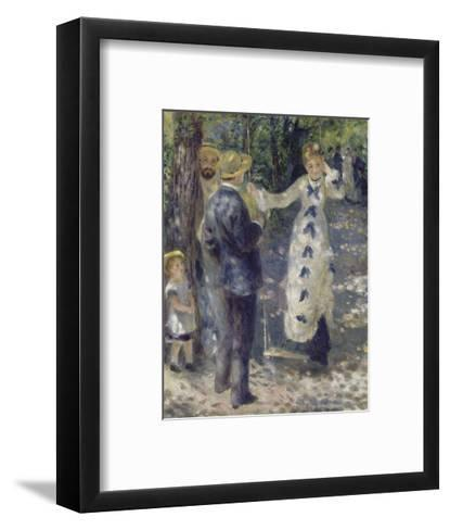 The Swing, 1876-Pierre-Auguste Renoir-Framed Art Print