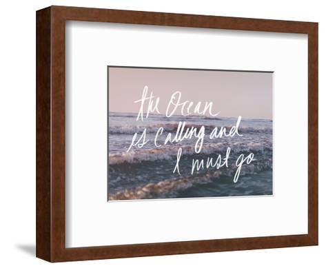 The Ocean Is Calling And I Must Go-Leah Flores-Framed Art Print