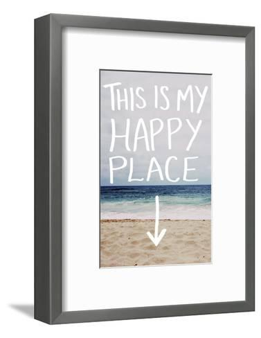 This Is My Happy Place (Beach)-Leah Flores-Framed Art Print
