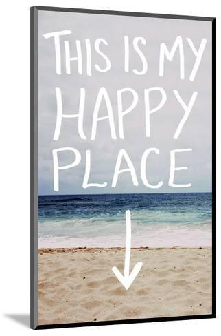 This Is My Happy Place (Beach)-Leah Flores-Mounted Art Print