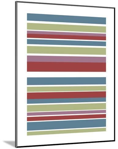Tutti-frutti Stripes-Denise Duplock-Mounted Art Print