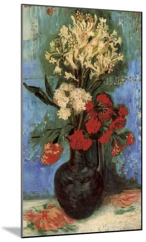 Vase with Carnations and Other Flowers, 1886-Vincent van Gogh-Mounted Art Print