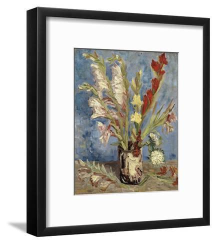 Vase with Gladioli and China Asters, 1886-Vincent van Gogh-Framed Art Print