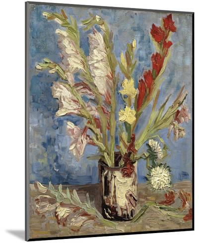 Vase with Gladioli and China Asters, 1886-Vincent van Gogh-Mounted Art Print