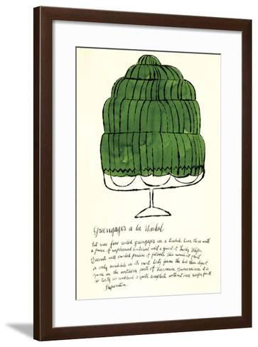 Wild Raspberries by Andy Warhol and Suzie Frankfurt, 1959 (green)-Andy Warhol-Framed Art Print