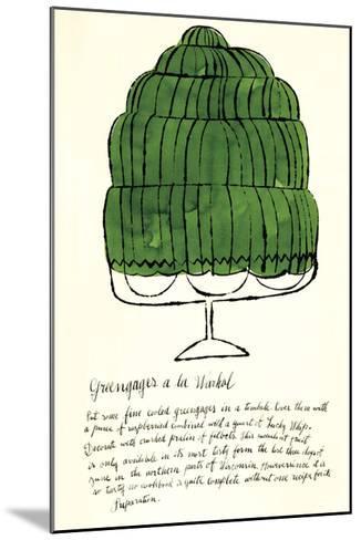 Wild Raspberries by Andy Warhol and Suzie Frankfurt, 1959 (green)-Andy Warhol-Mounted Art Print