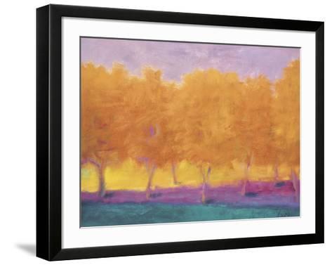 Yellow Trees-Wolf Kahn-Framed Art Print