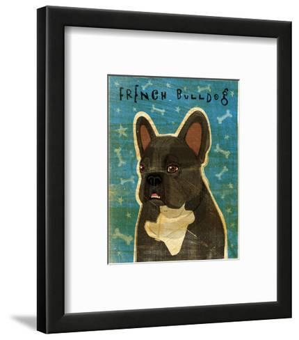French Bulldog (Black and White)-John W^ Golden-Framed Art Print