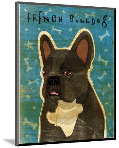 French Bulldog (Black and White)-John W^ Golden-Mounted Art Print