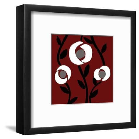 Fiori-rouge-Denise Duplock-Framed Art Print