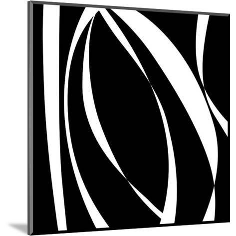 Fistral Nero Blanco I-Denise Duplock-Mounted Art Print