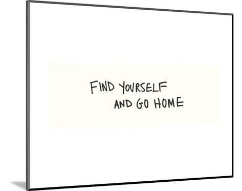 Find Yourself-Urban Cricket-Mounted Art Print