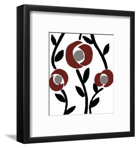Fiori-blanc-Denise Duplock-Framed Art Print