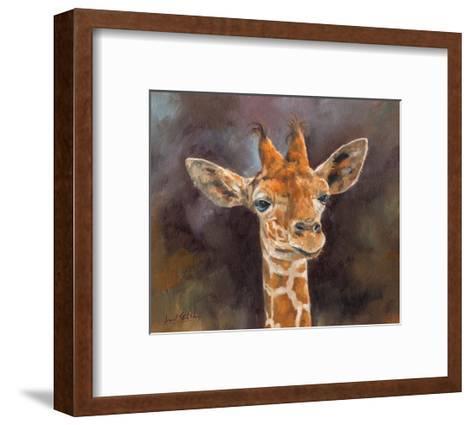 Giraffe Portrait-David Stribbling-Framed Art Print