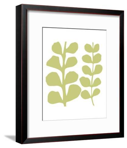 Green Fern on White-Denise Duplock-Framed Art Print