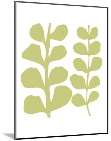 Green Fern on White-Denise Duplock-Mounted Art Print