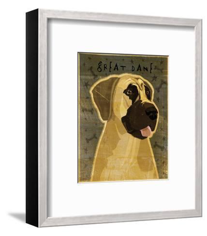 Great Dane (Fawn, no crop)-John W^ Golden-Framed Art Print