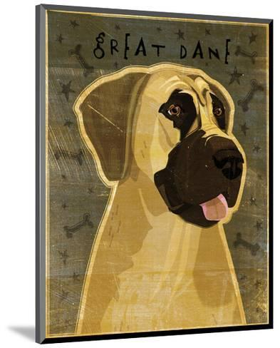 Great Dane (Fawn, no crop)-John W^ Golden-Mounted Art Print