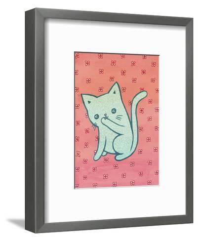 Grooming Cat-My Zoetrope-Framed Art Print