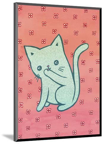 Grooming Cat-My Zoetrope-Mounted Art Print