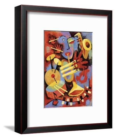 Jazz Player-Jim Dryden-Framed Art Print