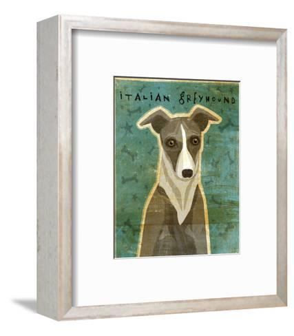 Italian Greyhound (White & Grey)-John W^ Golden-Framed Art Print