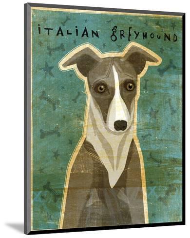 Italian Greyhound (White & Grey)-John W^ Golden-Mounted Art Print