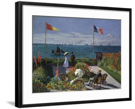 Jardin a? Sainte-Adresse, 1866/1867-Claude Monet-Framed Art Print