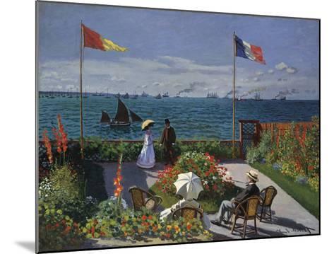 Jardin a? Sainte-Adresse, 1866/1867-Claude Monet-Mounted Art Print