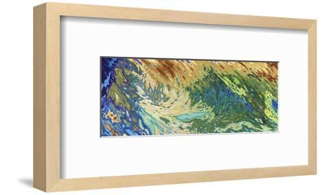 Intertwining Waves of Pigment-Margaret Juul-Framed Art Print