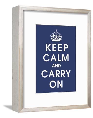 Keep Calm (navy)-Vintage Reproduction-Framed Art Print