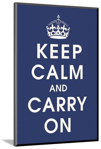Keep Calm (navy)-Vintage Reproduction-Mounted Art Print