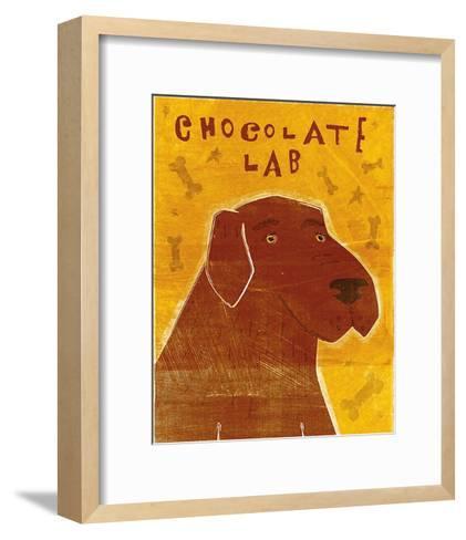 Lab (chocolate)-John W^ Golden-Framed Art Print